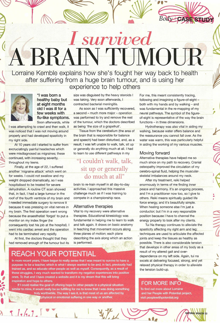 I survived a Brain Tumour